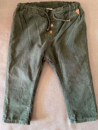 Pantalón bebe de pana forrado H&M 12m - 18m / 86