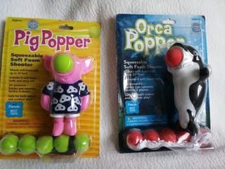 juguete lanza pelotas pack 2