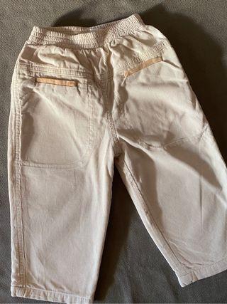 Pantalón bebe de pana forrado 18 m / 81 cm