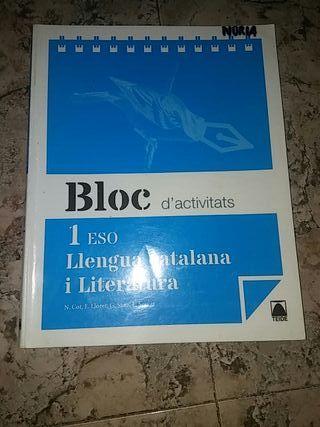 libro 1 eso BLOC llengua catalana i literatura