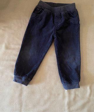 Pantalón bebe de pana forrado chicco 86 cm / 18 m