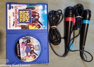 High School Musical ps2 con micrófonos