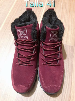 zapato de senderismo impermeable de invierno