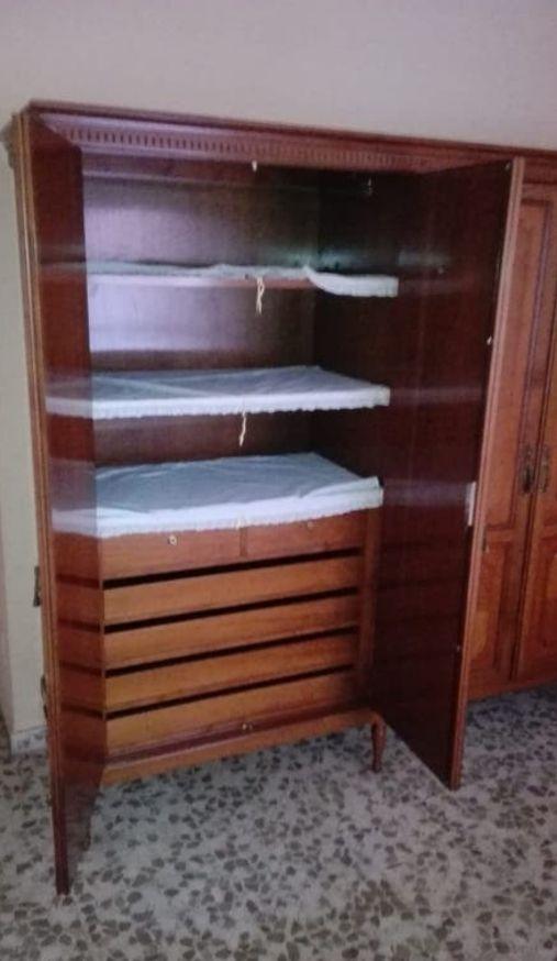 Conjunto dormitorio, armario ropero, cama