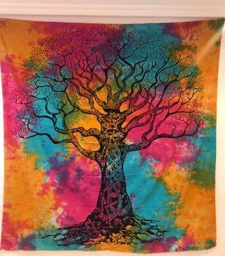 Neuf grande tenture 210 x 240 arbre de vie