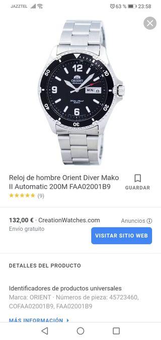 reloj orient automatico water resist 200m