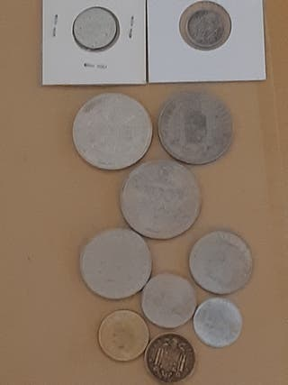 Lote Monedas España - Diversos Monarcas -