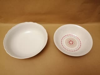 Ensaladeras de cerámica.