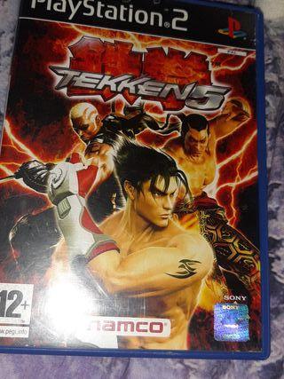 caratulas vacía de Tekken 5 con manual de ps2