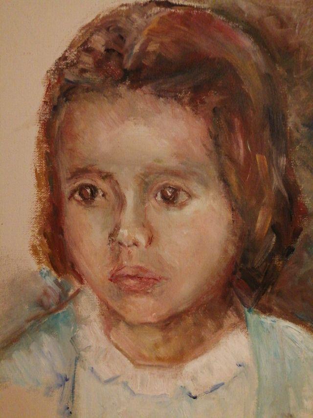 cuadro pintado a mano sobre lienzo con su firma