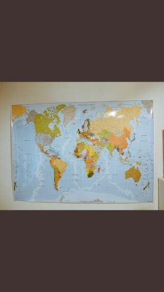 mapa mural del mundo