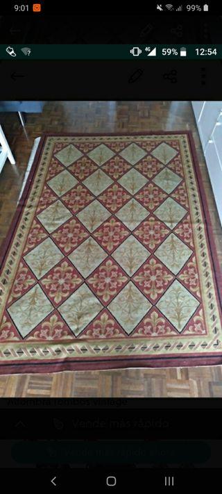 alfombra rombos vintage
