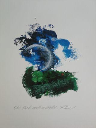 Cuadro pintado a mano Ramcé 33x48cm