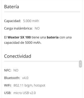 "Tablet Woxter SX 100 blue 10.1"""