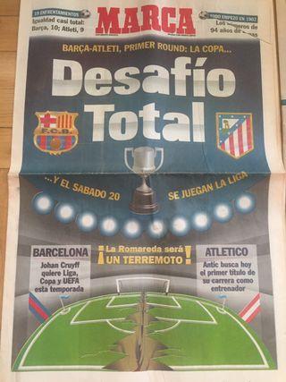 Periódicos completos marca, as y mundo deportivo.
