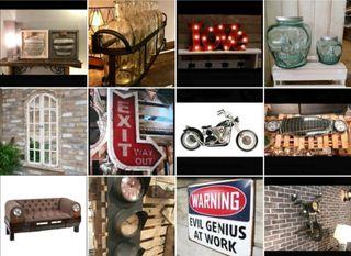 Decoración industrial Retro-vintage