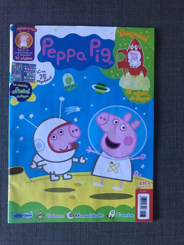 Lote libros y revistas peppa pig