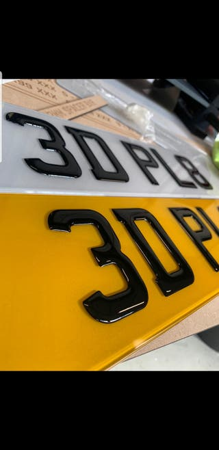 3d and 4d number plates