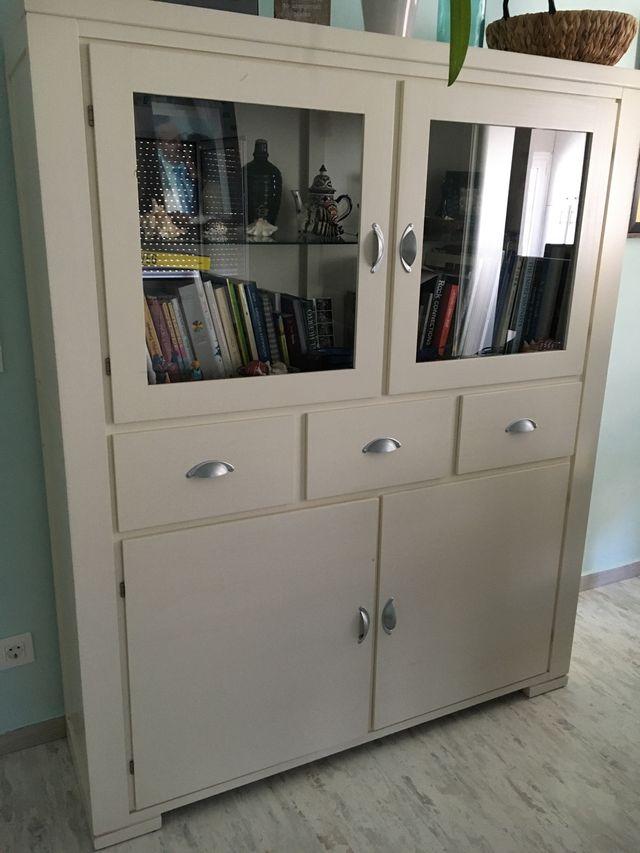 Alacena armario blanco roto