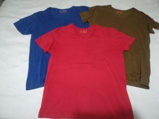 3 camisetas T /M 38 Zara hombre
