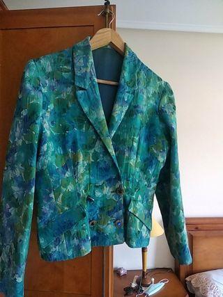 chaqueta turquesa confección artesana