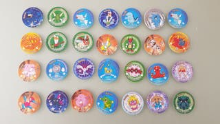 Pokemon sticker tazos