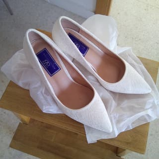 Zapatos Novia Blancos de Encaje SIN ESTRENAR