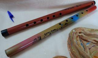 Flautas en madera.Pareja.Origen Colombia