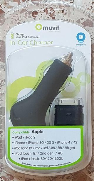 IPHONE/ IPOD/IPAD CARGADOR COCHE APPLE MUVIT