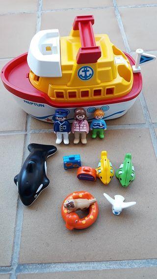 Playmobil barco maletín 123