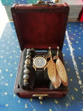 Reloj de mujer Edge + pulsera + pendientes