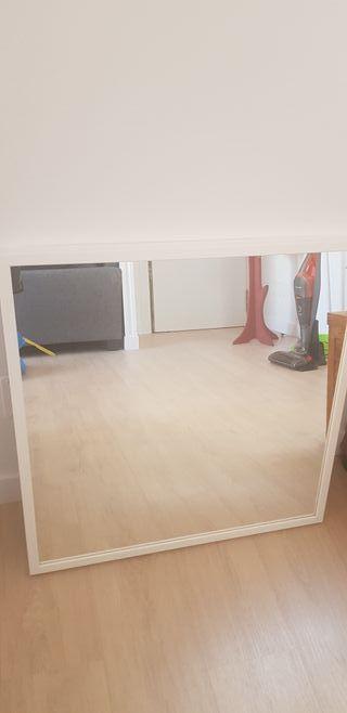 Espejo cuadrado Marco Blanco Ikea