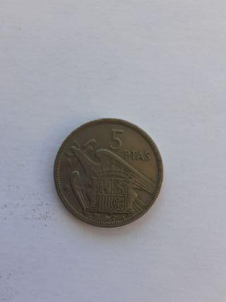Moneda de 5 pesetas de 1957