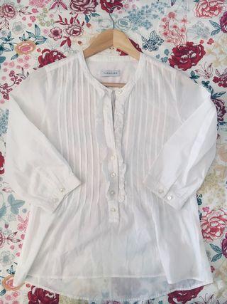 Blusa blanca Turnover