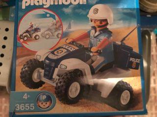 PLAYMOBIL REF. 3655 Policía con Quad
