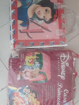 Casa de princesas y puzzle para el suelo princesas