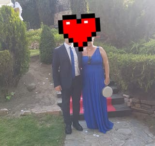 vestido azul eléctrico boda/fiesta/ceremonias
