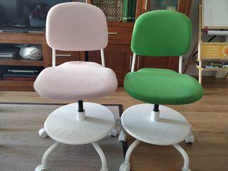 2 sillas escritorio niñ@