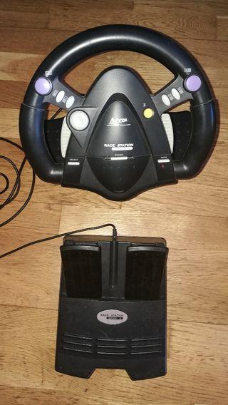 volante y pedales Ps1 Ps2
