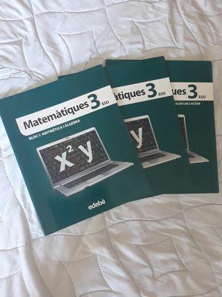 Libro Matemáticas 3°ESO edebé