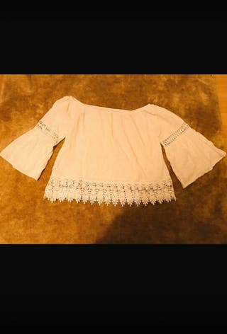 blusa blanca sandro