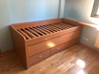 Cama nido doble desplegable de madera