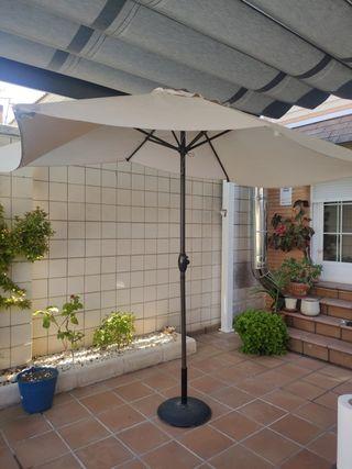 sombrilla patio + pie