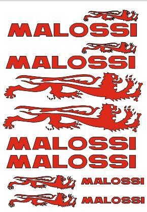 Kit pegatinas A4 Malossi en varios colores.