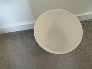 White waste bin