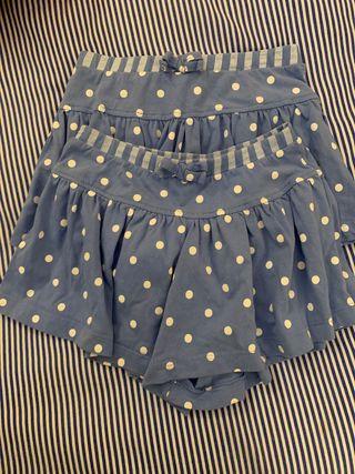 Falda pantalón corta 3-4 años 104 cm