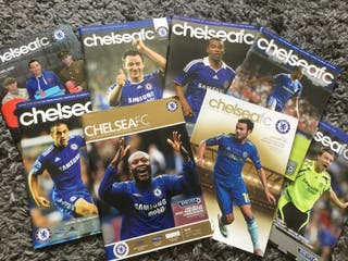 CHELSEA FC OFFICIAL MATCH DAY PROGRAMMES
