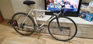 bicicleta antigua carretera raleich