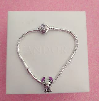 Pulsera de plata + charm Lilo & Stich