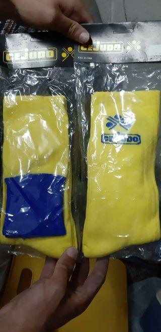 Medias azules y amarillas marca cejudo